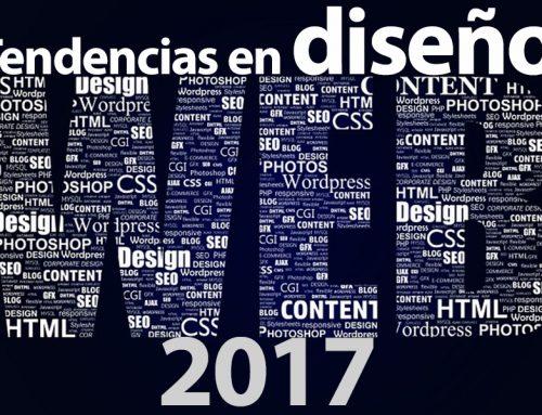 Tendencias en páginas web 2017