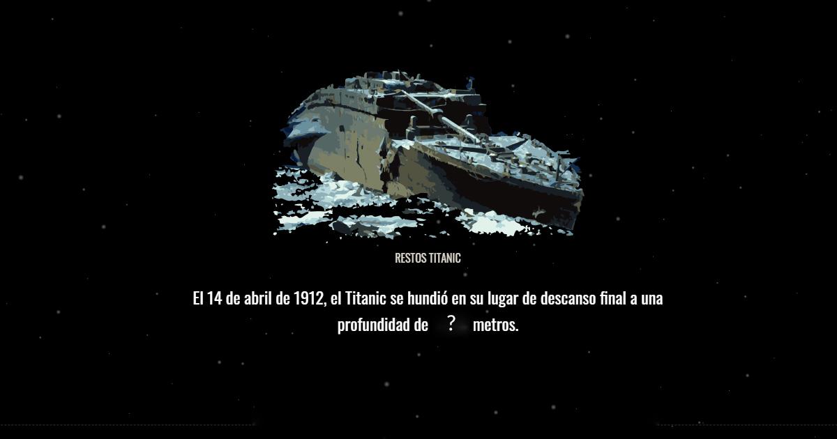 profundidad titanic