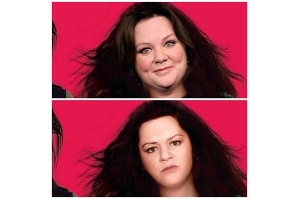 Melissa McCarthy víctima de una transformación completa en el cartel de una de sus películas